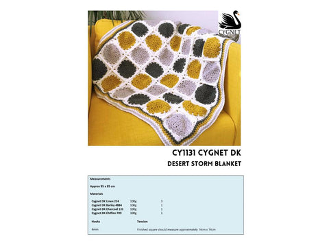 Desert Storm Blanket Crochet Kit and Pattern in Cygnet Yarn
