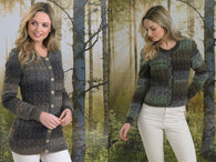 Ladies Long & Short Line Cardigan in James C. Brett Landscape DK (JB496)