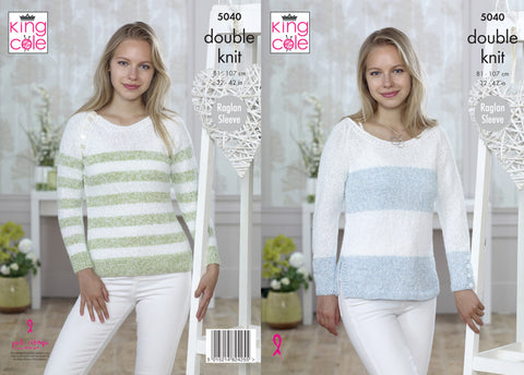 Sweaters in King Cole Calypso DK (5040)