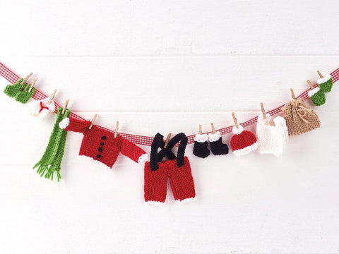 Let's Knit Santa's Washing Line in Deramores Studio DK