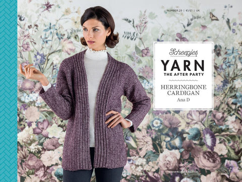 YARN The After Party 29 - Crochet Kit and Pattern Herringbone Cardigan
