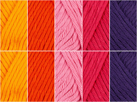 Marrakesh Colour Pack by Emma Leith in Rico Design Creative Cotton Aran