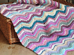 Ripple Stitch Blanket Crochet Kit and Pattern in Stylecraft Yarn