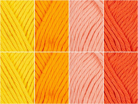 Rose Sunset Colour Pack in Rico Design Creative Cotton Aran