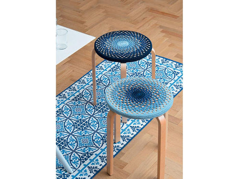 Stool Covers Crochet Kit and Pattern in Schachenmayr Yarn