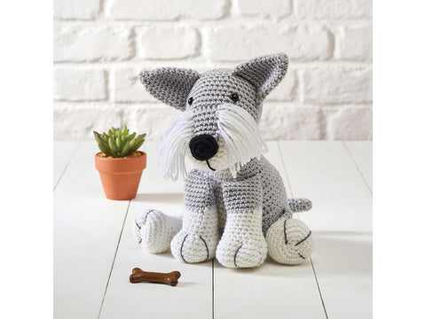 Schnauzer - Dera-Dogs Crochet Kit and Pattern in Deramores Yarn