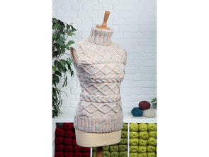 Ladies Side Cabled Tank Top by Sarah Murray in Stylecraft Special Aran with Wool