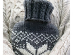 Fairisle Christmas Hot Water Bottle Cover Knitting and Pattern in Deramores Yarn