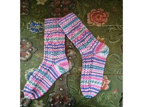 Socks in Lace Pattern in Regia 4 Ply Design Line Arne & Carlos Pairfect (R0259)