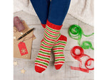 Prancer Socks Knitting Kit and Pattern in West Yorkshire Spinners Yarn