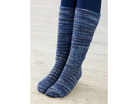 Vixen Socks Knitting Kit and Pattern in West Yorkshire Spinners Yarn