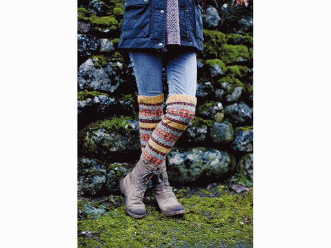 Skiddaw Boot Toppers by Lisa Richardson in Rowan Valley Tweed