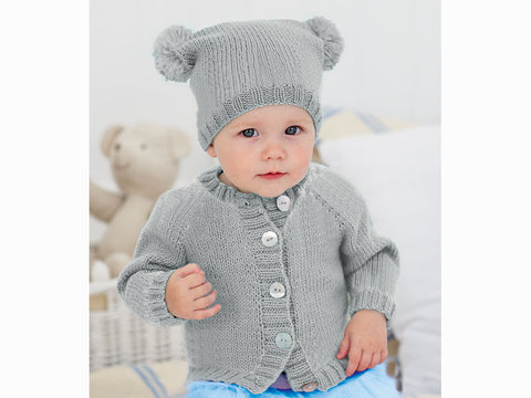 KNITTING PATTERN Selection 6 Baby Hats Bennie Beret T-Bag Chunky King Cole 3391
