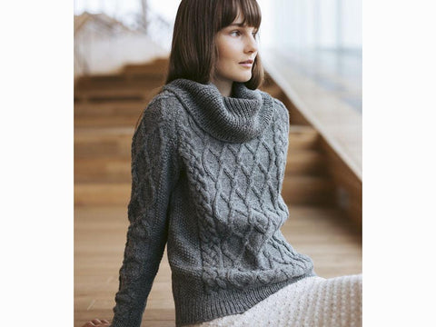 Sofi Sweater in Novita Nordic Wool Knitting Kit and Pattern