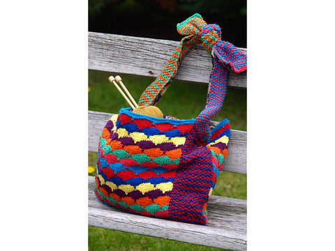 Starburst Bag by Jo Allport in Rico Design Creative Cotton Aran