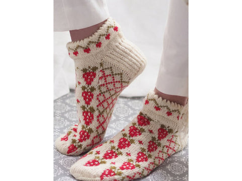 Knitted Strawberry Socks in Novita Venla