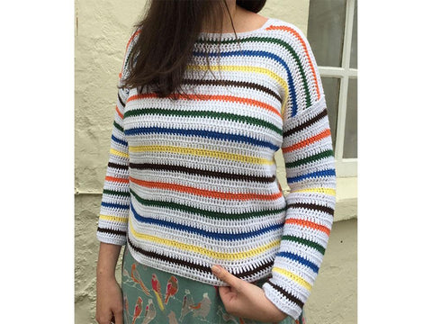 Striped Breton Top Crochet Kit and Pattern in Rico Design Yarn