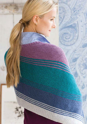 Striped Shawl in Deramores Studio DK by Christina Behnke