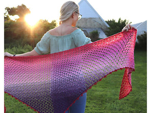 Summer Fuchsia Shawl Crochet Kit and Pattern in Scheepjes Yarn