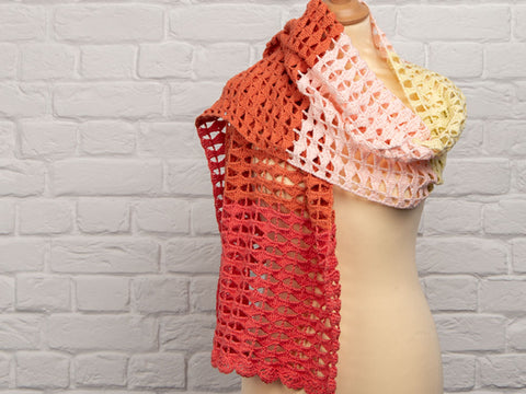 Summer Shawl Crochet Kit and Pattern in Rowan Yarn