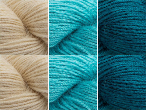West Yorkshire Spinners Wensleydale Gems Surf Colour Pack by Wendy Jane Paterson