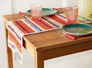 Spring into Summer Table Runner Crochet Kit and Pattern in Rico Design Yarn