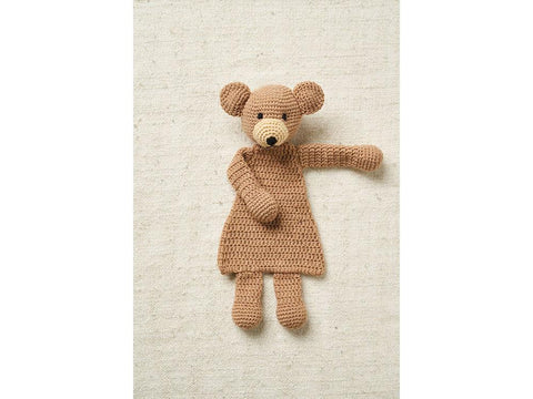 Teddy Flat Toy Crochet Kit and Pattern in Patons Yarn