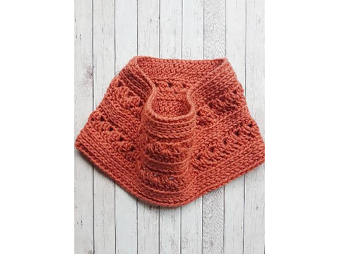 The Chelsea Cowl Crochet Kit and Pattern in Lion Brand Yarn