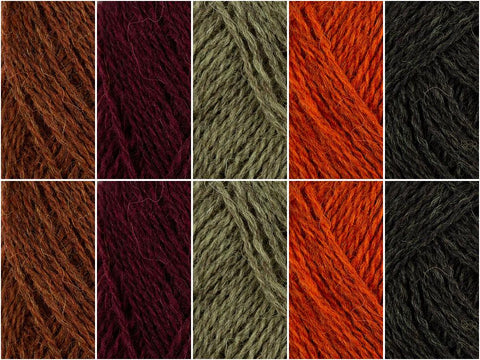 Toffee Apple Colour Pack in Baa Ram Ewe Pip Colourwork