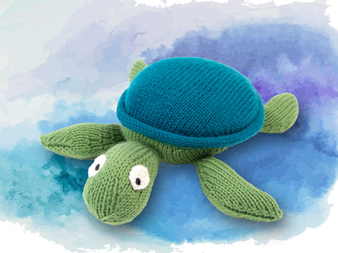 Tiffany The Turtle Knitting Kit and Pattern in Deramores Yarn