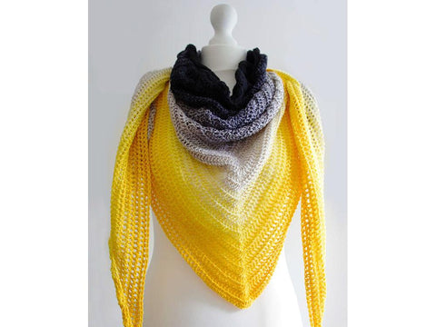Sun Storm Shawl by Leonie Morgan in Scheepjes Whirl