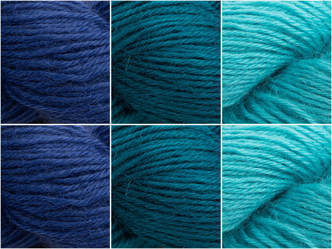 West Yorkshire Spinners Wensleydale Gems Under the Water Gems Colour Pack
