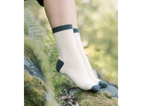 Colourblock Socks by Sari Nordlund in Novita Venla