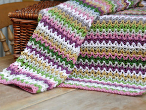 V-Stitch Blanket Crochet Kit and Pattern