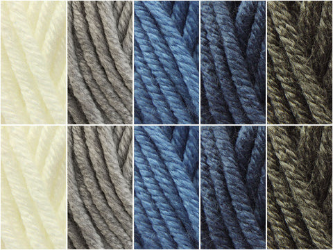 Silver Surf Colour Pack in Deramores Studio Chunky
