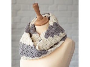 Deramores Vintage Stripe Scarf by Kate Rowell in Stylecraft Life Chunky