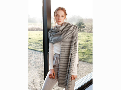 Waffle Wrap by Martin Storey in Rowan Cotton Cashmere