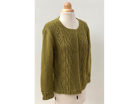 Wych Elm Cardigan by Emma Vining in West Yorkshire Spinners Bluefaced Leicester DK - Pattern only