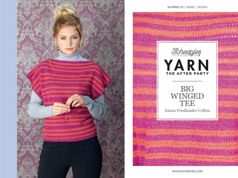 YARN The After Party 33 - Crochet Kit and Pattern Big Winged Tee