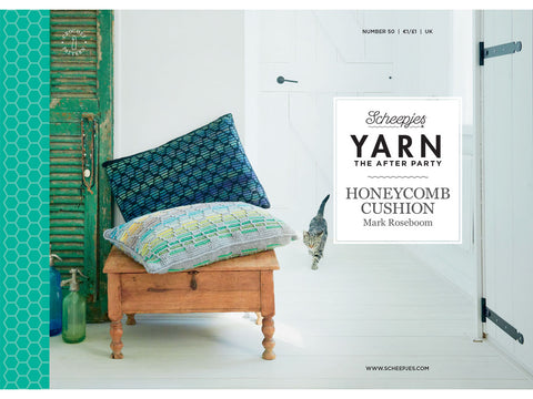 YARN The After Party 50 - Crochet Kit and Pattern Honeycomb Cushion