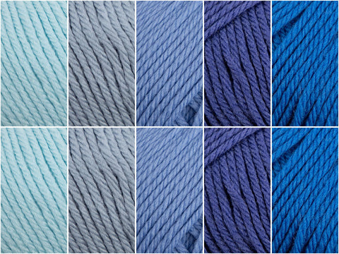 Blue-tiful Colour Pack in Yarn Stories Fine Merino DK