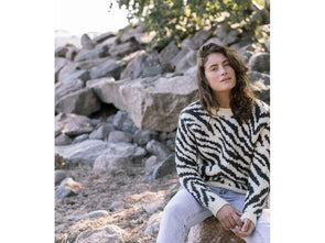 Women's Zebra Sweater in Novita Natura