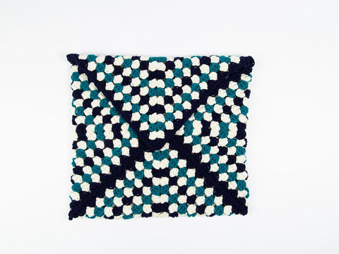 Envelope Granny Cushion by Zoë Potrac in Deramores Studio Chunky