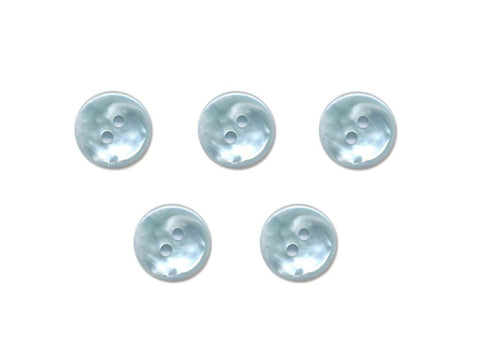 Pearlescent Round Buttons - Blue - 158