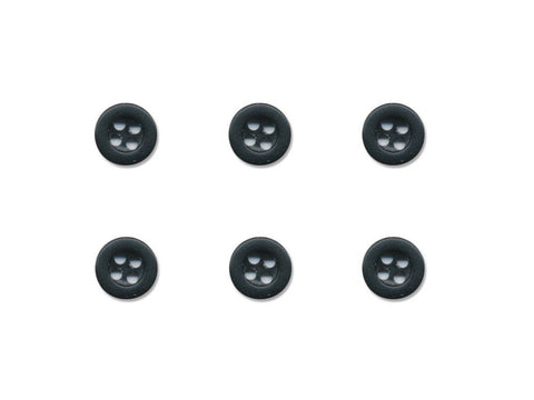 Round Thick Rimmed Buttons - Black - 205