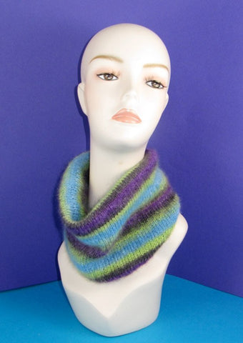 MadMonkeyKnits Angel Print Mohair  Cowl (769) - Digital Version