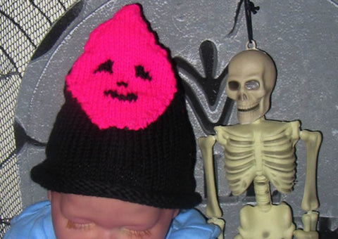Baby Pink Ghost Head Halloween Beanie by MadMonkeyKnits (10) - Digital Version