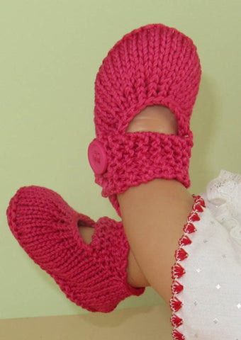 Baby Simple Big Strap Sandals by MadMonkeyKnits (598) - Digital Version