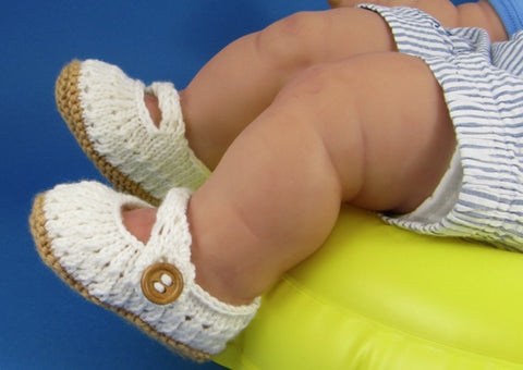 Baby Simple Lacey Sandals by MadMonkeyKnits (584) - Digital Version