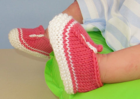 Baby Simple Slip On Deck Shoes by MadMonkeyKnits (621) - Digital Version